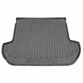 2010-2014 Subaru Outback Cargo Mat Rubber, All-Weather Style Black Genuine Subaru #J501SAJ450