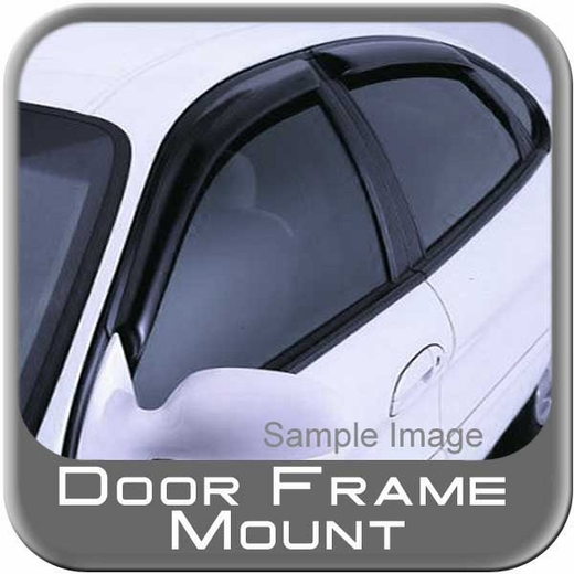 2011-2015 Dodge Charger Rain Guards / Wind Deflectors Ventvisor Dark Smoke Acrylic 4-piece Set Auto Ventshade AVS #94313