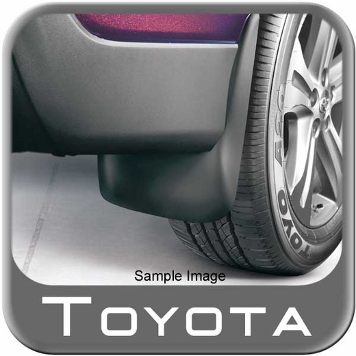 Toyota 4Runner Mud Flaps 2011-2018 Black 4-piece Set Genuine Toyota #PT769-89110