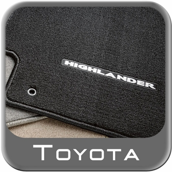 Toyota Highlander Carpeted Floor Mats 2011-2013 Hybrid Black 4-Piece Set Genuine Toyota #PT919-48118-20