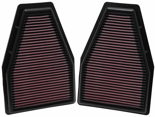 2012-2014 Porsche 911 Replacement Air Filter Set of 2 K&N #33-2484