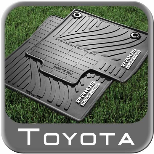 Toyota Prius Rubber Floor Mats 2012-2015 Plug-In All-Weather Black 4-Piece Set Genuine Toyota #PT908-47123-20