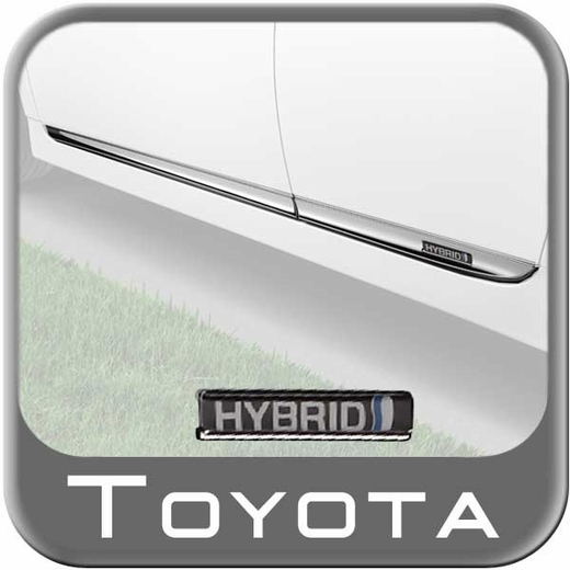 Toyota Prius Lower Door Moldings 2012-2015 Chrome plated 4-Piece Set Genuine Toyota #PT29A-47120