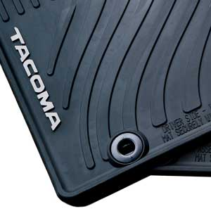 new 2012 2014 toyota tacoma rubber floor mats from brandsport auto parts toy pt908 35122 20. Black Bedroom Furniture Sets. Home Design Ideas