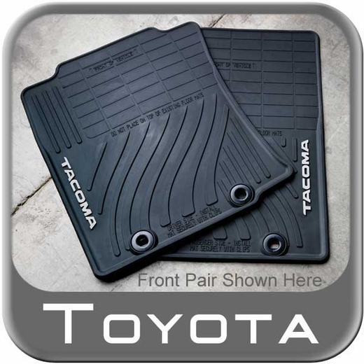 2012 2014 toyota tacoma rubber floor mats all weather black double cab. Black Bedroom Furniture Sets. Home Design Ideas