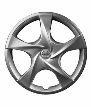 "Scion iQ Wheel Cover 2012-2015 For 16"" Steel Wheels 5-Spoke Sold Individually Genuine Toyota #PT280-74102-SR"