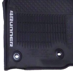 Toyota 4Runner Floor Mats 2013-2019 Rubber, All-Weather Black 3-Piece Set Genuine Toyota #PT208-89190-20