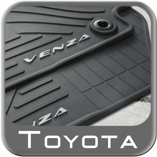 2013 2014 toyota venza rubber floor mats all weather black. Black Bedroom Furniture Sets. Home Design Ideas