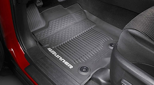 toyota 4runner floor mats rubber allweather black 3piece