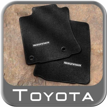 Toyota 4Runner Floor Mats 2013-2018 Carpeted, Black 4-Piece Set Genuine Toyota #PT208-89190-20