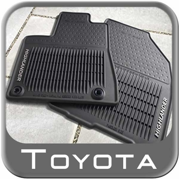 New 2014 2017 Toyota Highlander Rubber Floor Mats From Brandsport