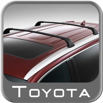 Toyota Highlander Roof Rack Crossbar Set 2014-2017 Black Set of 2 Genuine Toyota #PT278-48140