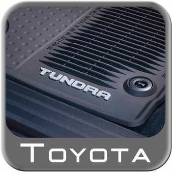 toyota tundra rubber floor mats allweather black front pair genuine toyota