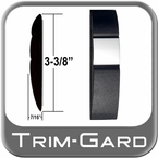 "3-3/8"" Wide Black-Chrome Body Side Molding Sold by the Foot, Trim Gard® # 98S10-01"