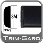 "3/4"" Wide Black Body Side Molding Sold by the Foot, Trim Gard® # PC02-01"