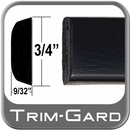 """3/4"""" Wide Black Body Side Molding Sold by the Foot, Trim Gard® # PC02-01"""