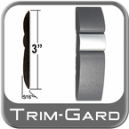 "3"" Wide Gray-Chrome Body Side Molding Sold by the Foot Trim Gard® #GMAV-01"