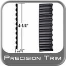 """4-1/4"""" Wide Black Tread Molding Sold by the Foot, Precision Trim® # 4535-01"""