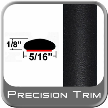 "5/16"" Wide Wheel Molding Trim Black (Flat) (PT11) Sold by the Foot Precision Trim® #24200-11-01"