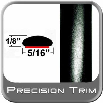 """5/16"""" Wide Wheel Molding Trim Black Sold by the Foot Precision Trim® #24200-60-01"""