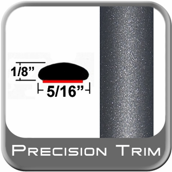 "5/16"" Wide Gray (Dark) Wheel Molding Trim (PT84) Sold by the Foot Precision Trim® #24200-84-01"