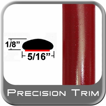 "5/16"" Wide Red (Dark) Wheel Molding Trim (PT42) Sold by the Foot Precision Trim® #24200-42-01"