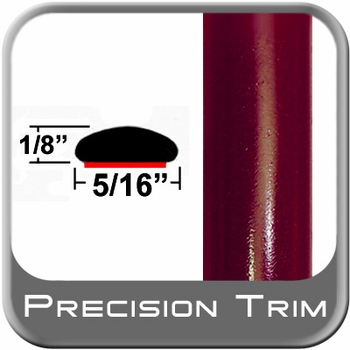 """5/16"""" Wide Red (Dark) Wheel Molding Trim (PT44) Sold by the Foot Precision Trim® #24200-44-01"""