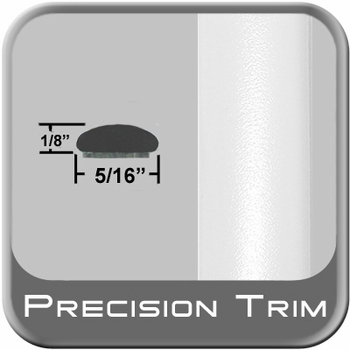 """5/16"""" Wide White Wheel Molding Trim (PT59) Sold by the Foot Precision Trim® #24200-59-01"""
