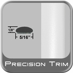 "5/16"" Wide White Wheel Molding Trim (PT10) Sold by the Foot Precision Trim® #24200-10-01"