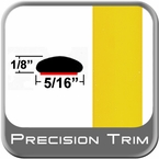 "5/16"" Wide Yellow Wheel Molding Trim (PT46) Sold by the Foot Precision Trim® #24200-46-01"