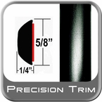 "5/8"" Wide Black Wheel Molding Trim Sold by the Foot Precision Trim® #37130-60-01"