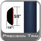 """5/8"""" Wide Deep Blue Metallic Wheel Molding Trim ( CP58 ), Sold by the Foot, ColorTrim Plastics® # 80-58"""