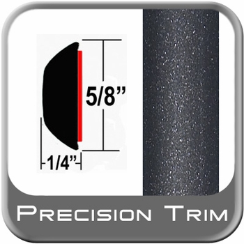 """5/8"""" Wide Gray (Dark) Wheel Molding Trim (PT08) Sold by the Foot Precision Trim® #37130-08-01"""