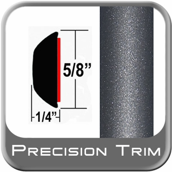 """5/8"""" Wide Gray (Dark) Wheel Molding Trim (PT84) Sold by the Foot Precision Trim® #37130-84-01"""