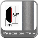 "5/8"" Wide Gray (Light) Wheel Molding Trim (PT91) Sold by the Foot Precision Trim® #37130-91-01"