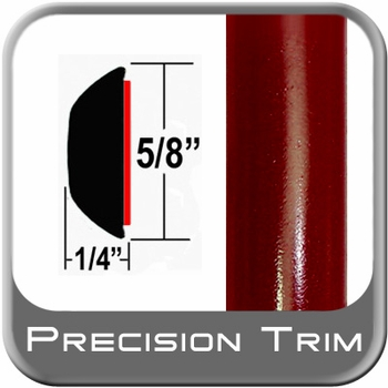 "5/8"" Wide Red (Dark) Wheel Molding Trim (PT31) Sold by the Foot Precision Trim® #37130-31-01"
