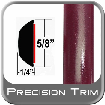 "5/8"" Wide Red (Dark) Wheel Molding Trim (PT65) Sold by the Foot Precision Trim® #37130-65-01"