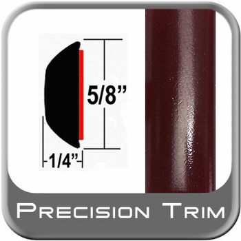 """5/8"""" Wide Red (Dark) Wheel Molding Trim (PT72) Sold by the Foot Precision Trim® #37130-72-01"""