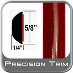 """5/8"""" Wide Salsa Red Wheel Molding Trim 3Q3 ( CP39 ), Sold by the Foot, ColorTrim Plastics® # 80-39"""