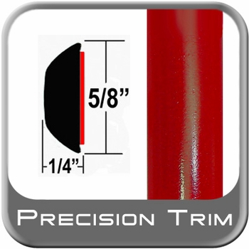"""5/8"""" Wide Red Wheel Molding Trim (PT61) Sold by the Foot Precision Trim® #37130-61-01"""