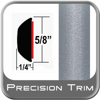 """5/8"""" Wide Silver Wheel Molding Trim (PT37) Sold by the Foot Precision Trim® #37130-37-01"""