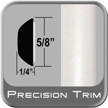 "5/8"" Wide White Wheel Molding Trim (PT17) Sold by the Foot Precision Trim® #37130-17-01"