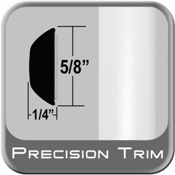 """5/8"""" Wide White Wheel Molding Trim (PT59) Sold by the Foot Precision Trim® #37130-59-01"""
