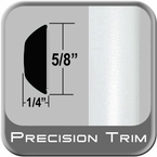 """5/8"""" Wide Arctic Frost Wheel Molding Trim ( PT73 ), Sold by the Foot, ColorTrim Plastics® # 37130-73"""
