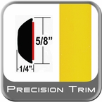 """5/8"""" Wide Yellow Wheel Molding Trim (PT46) Sold by the Foot Precision Trim® #37130-46-01"""