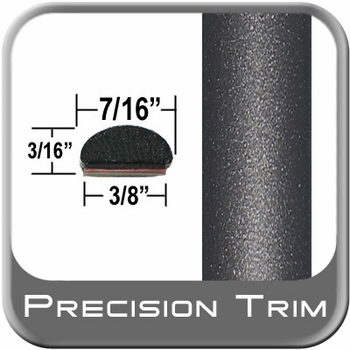"7/16"" Wide Gray (Dark) Fender Trim (PT49) Sold by the Foot Precision Trim® #2150-49-01"