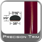 "7/16"" Wide Red (Dark) Fender Trim ( PT44 ), Sold by the Foot, Precision Trim® # 2150-44-01"