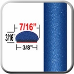 """7/16"""" Wide Deep Blue Metallic Wheel Molding Trim ( CP86 ), Sold by the Foot, ColorTrim Plastics® # 20-86"""