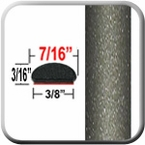 """7/16"""" Wide Light Olive Metallic Wheel Molding Trim ( CP64 ), Sold by the Foot, ColorTrim Plastics® # 20-64"""