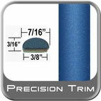 """7/16"""" Wide Blue Wheel Molding Trim ( PT41 ), Sold by the Foot, Precision Trim® # 2150-41-01"""